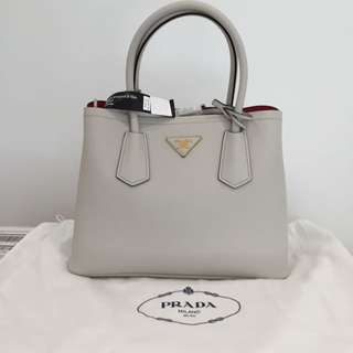 Authentic New With Tag Prada Saffiano Cuir White 30cm