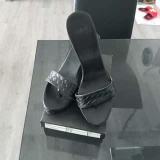 Brand New Mphosis Black Wedge Size 8