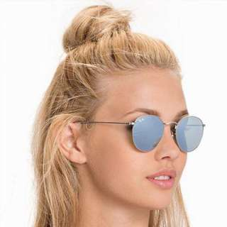 Ray Bans Round Flash Lens