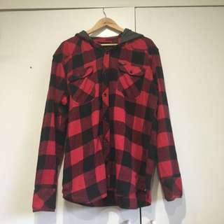 Hurley XL Flannel With Hood