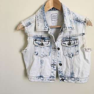 LYLA CO denim vest