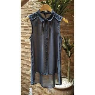 Grey Sleeveless H&M Top