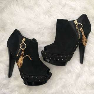 STUDIO TMLS Peeptoe Ankle Boots *price Dropped!*