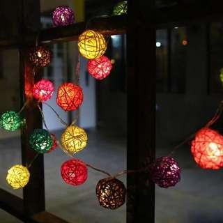 |派對♪ 佈置♪ 小燈|party必備 多色小球串燈|    有兩種亮燈方式/全亮/閃爍
