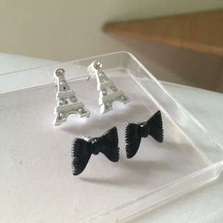Anting Eiffle & Pita - Eiffle & Ribbon Earrings