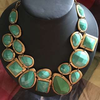 Teal Chunky Necklace