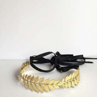 Vintage Inspired Gold Headband