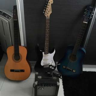 Electric Guitar And Acoustic Guitar For Sale