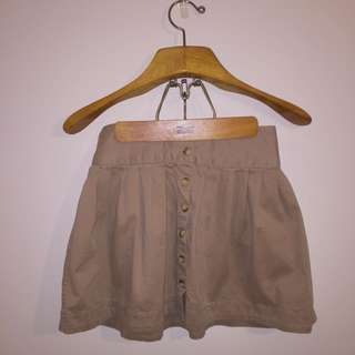 Ralph Lauren Button-Front Mini Skirt