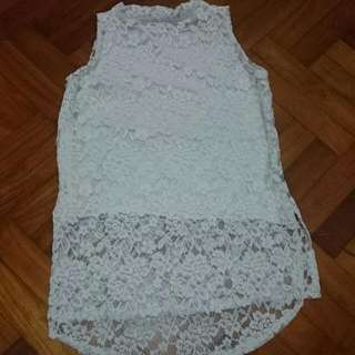 Full Lace White Top BNWT