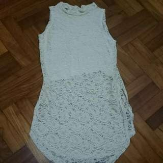 Light Yellow Full Lace Top BNWT