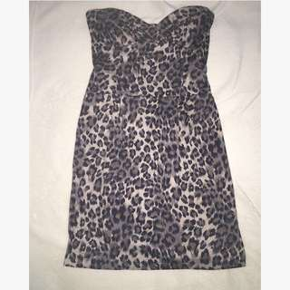 Leopard Mini Boobtube Dress