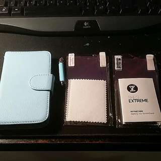 Samgung S4 Phone Case With 4 Screen Protector And A Stylus Pen