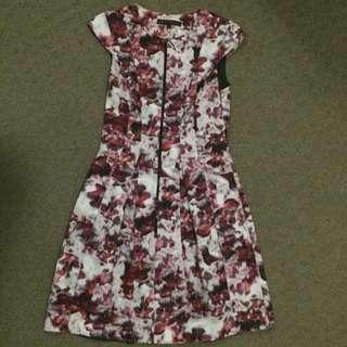 Cue Floral Print Dress (Size 8)