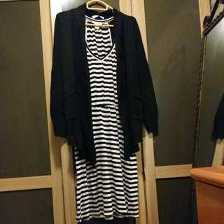 【全新*H&M*2件套】連身裙 + 外套
