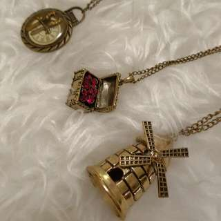 Set Of 3 Brand New Vintage Inspired Necklace