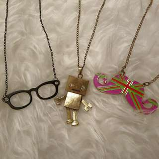 Set Of 3 Brand New Cute And Quirky Necklace