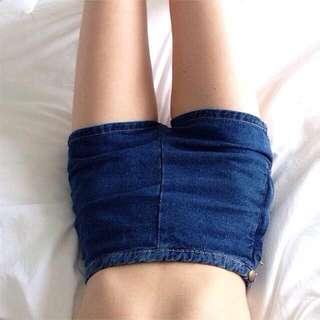 歐美AA風復古色拉鍊高腰短褲-5色