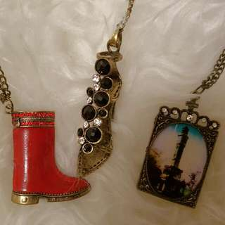 Set Of 3 Brand New Cute Necklace