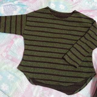 Hanging Blouse / Green Striped