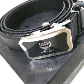 BNIB MCM Men's Black Leather Belt
