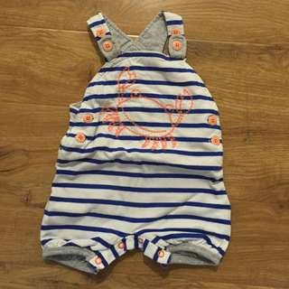 Next Baby Boy Crab Dungarees