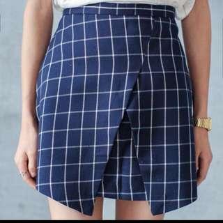 INSTOCK // Checker Uneven Skirt