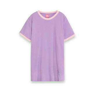 MAJOR  SD簡約撞色羅紋寬TEE 紫(S)  含郵