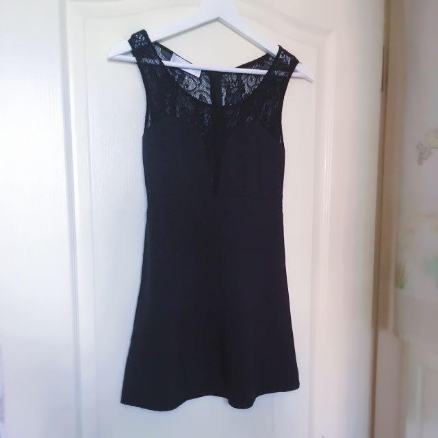 性感黑蕾絲洋裝