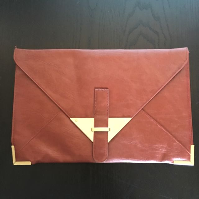 ASOS PU Large Envelope Clutch