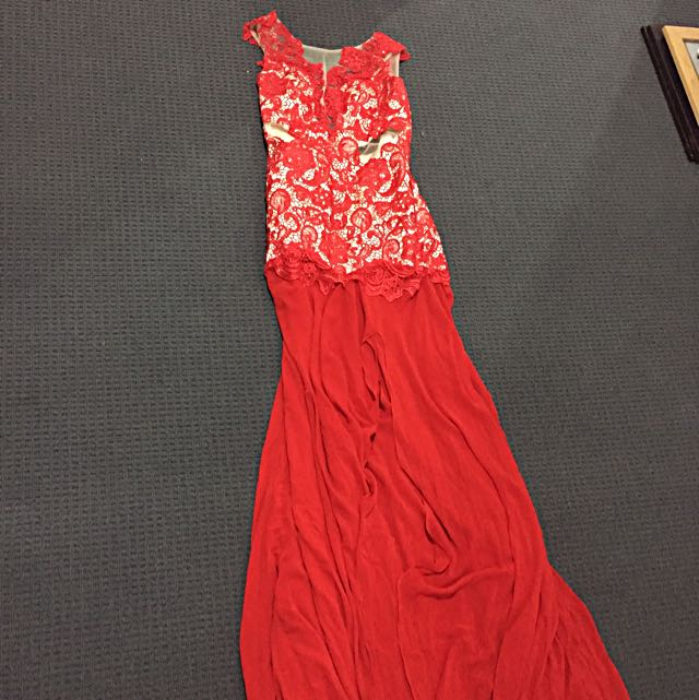 Ball Gown - Red Lace - New