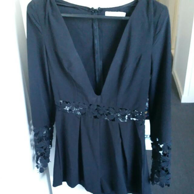 Black Playsuit Size 8