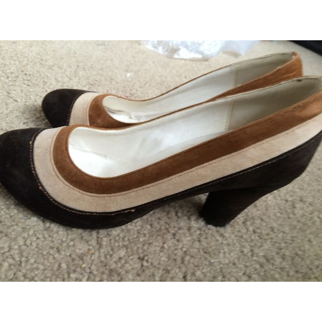Brown high heels size 7