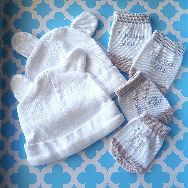 Caps & Socks For Newborn
