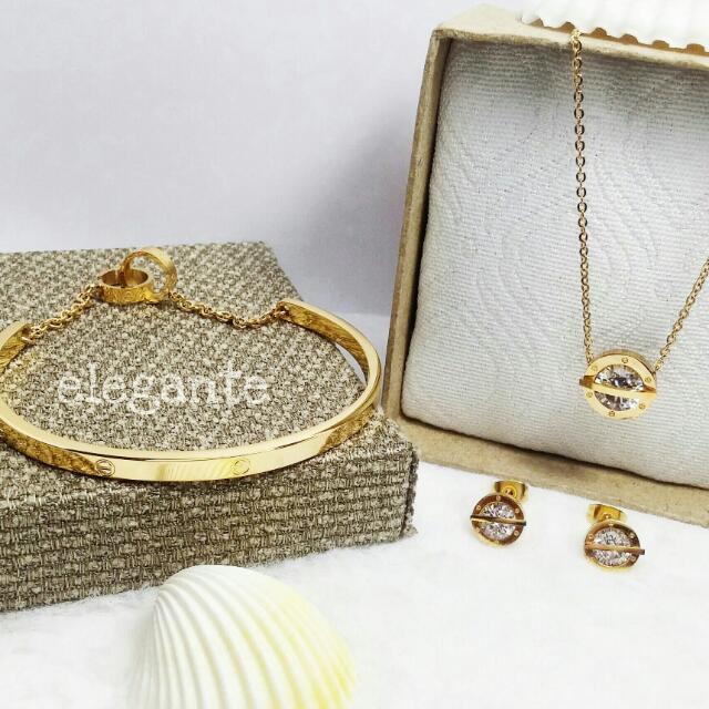 Cartier Inspired Gold Set