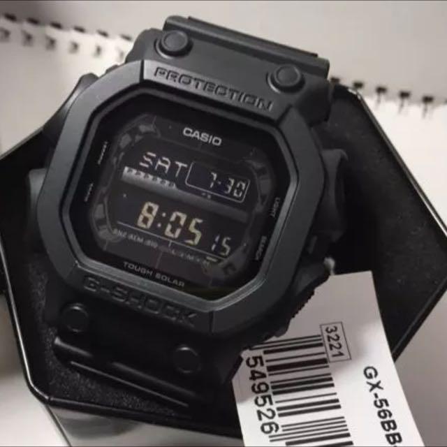 227d8d2adfa3 Casio G-Shock The King GX-56BB-1D GX-56BB GX56BB Matte Stealth All Black  Tough Solar Sports Watch
