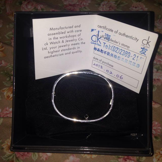 CK銀手環