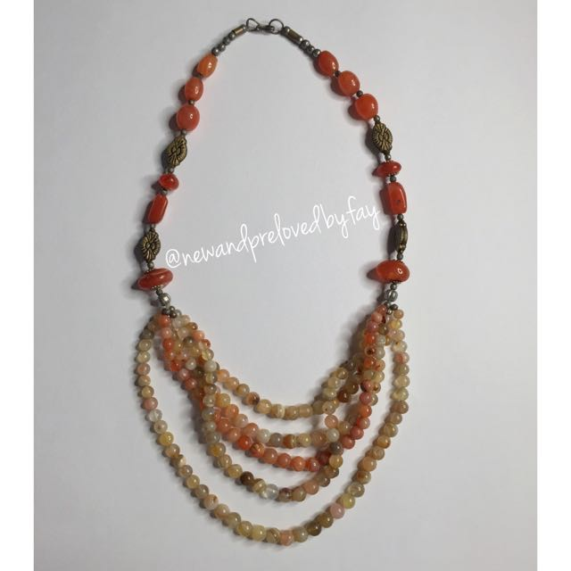 Earth Tone Stone Necklace