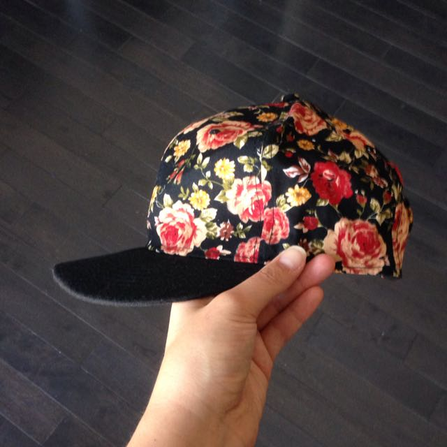 Floral Snap-back Hat