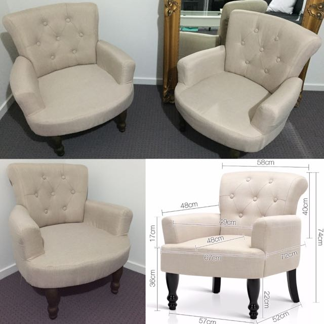 French Provincial Fabric Armchair