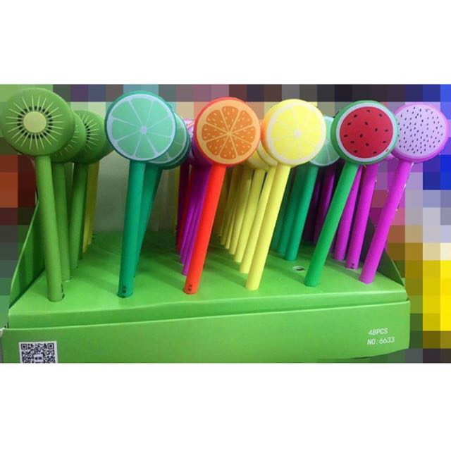 Fruits Gel Pen (black)