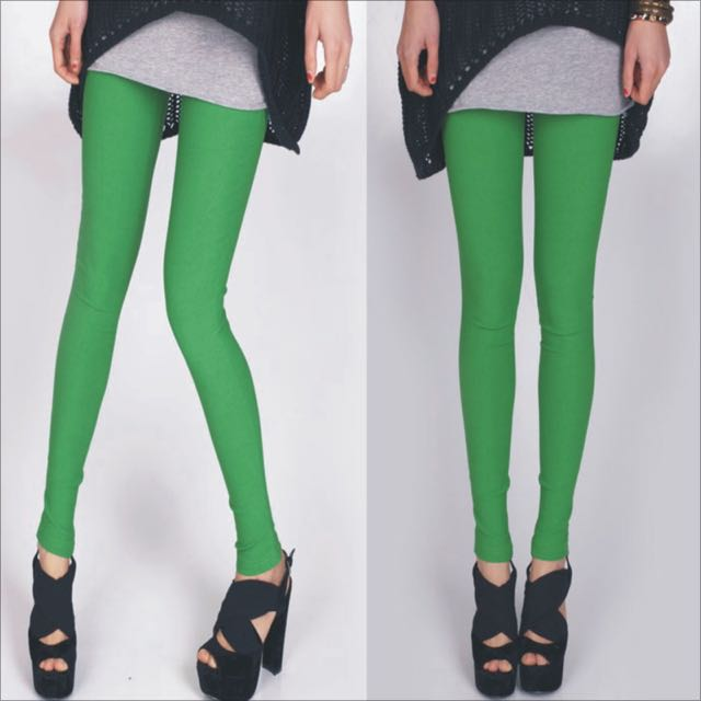 Green Stretch Leggings S-Xxl