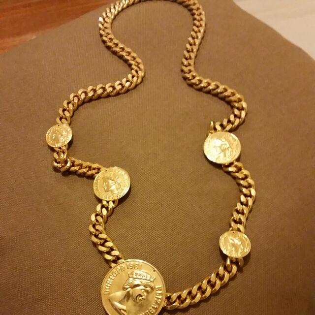 Heavy Gold Chain Med Length Neck Lace