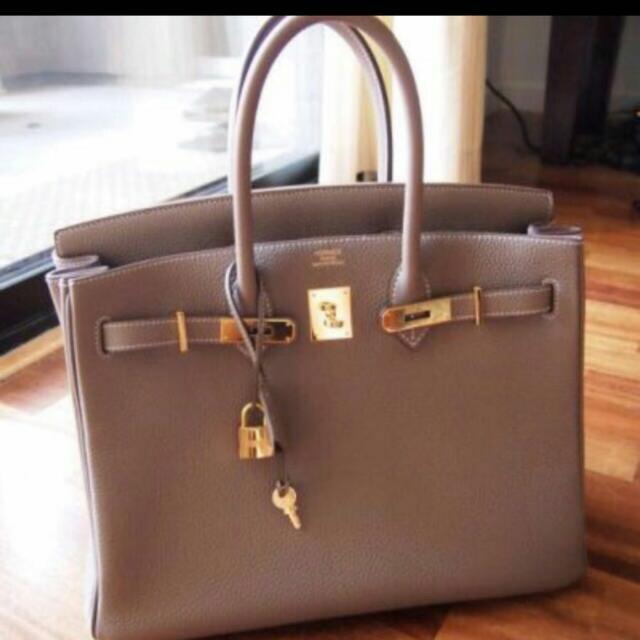 c54d4860e3a Hermes Birkin Brown Bag