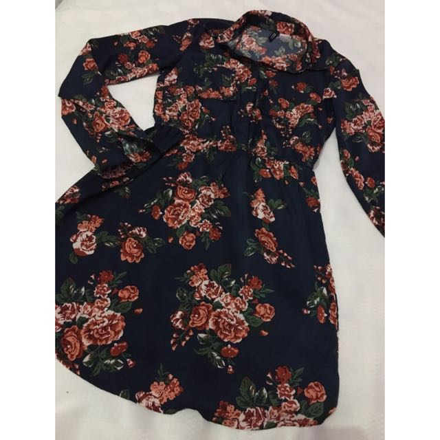 H&M Floral Long Sleeves Dress