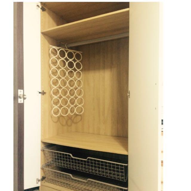 IKEA 系統衣櫥 衣櫃 PAX 白色鋼琴烤漆