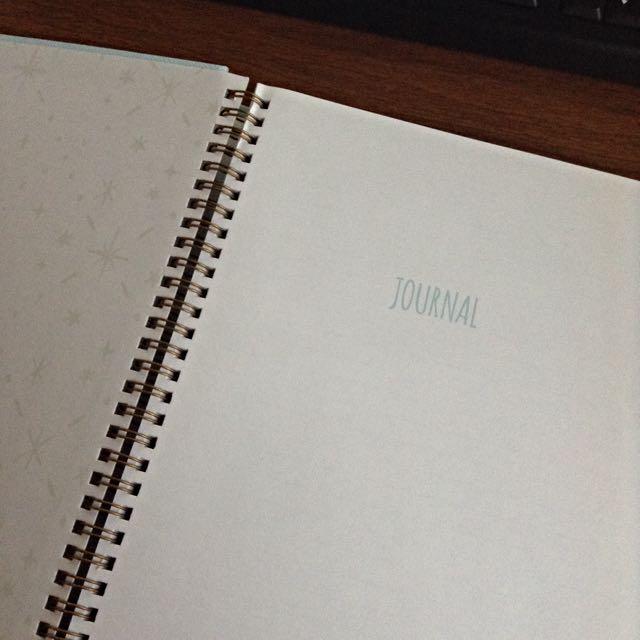 INDIGO Light Blue Spiral Hardcover Ruled Notebook