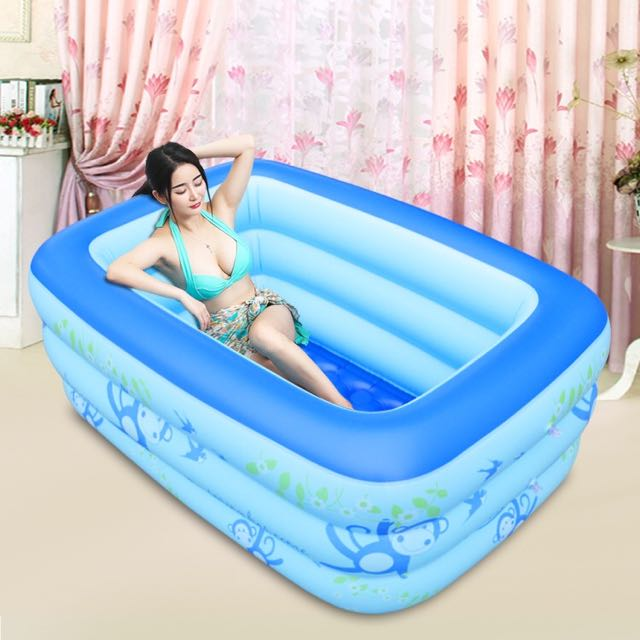 ... Inflatable Bathtub Portable Swim Pool Play Pen ...