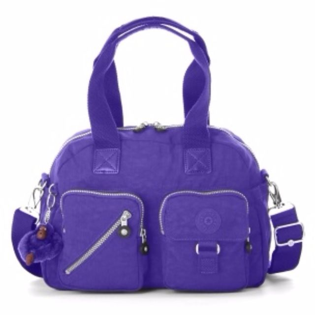 Kipling Defea Medium Handbag in Neon Purple