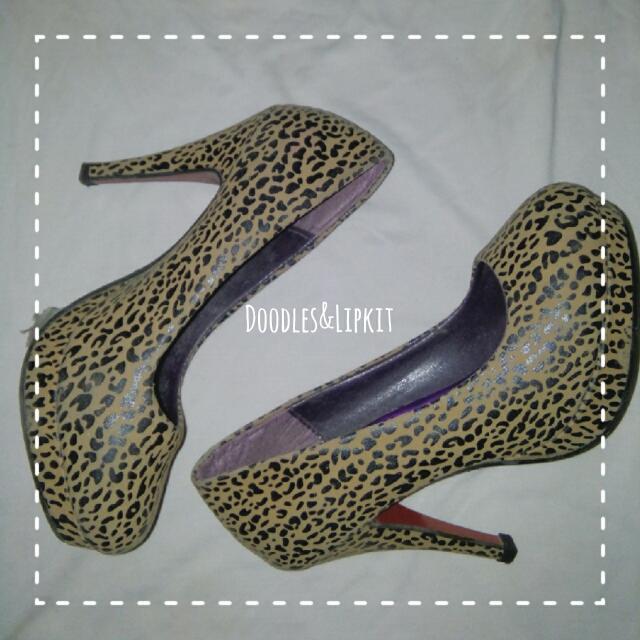 Leopard Design High Heels